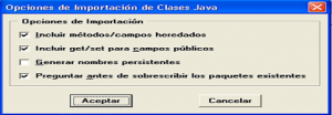opciones del oracle forms java importer